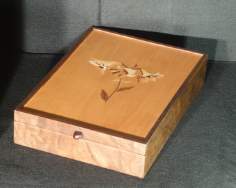 Letter box inlaid with trumpet flowers