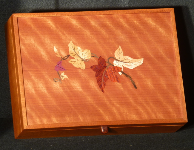 Letter box inlaid with sprig of ivy