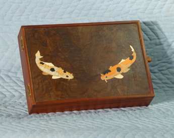 letter box with koi